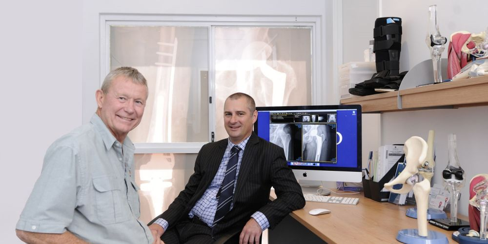 Dean Wakefield and Joondalup Health Campus surgeon Murray Blythe. Picture: Chris Kershaw