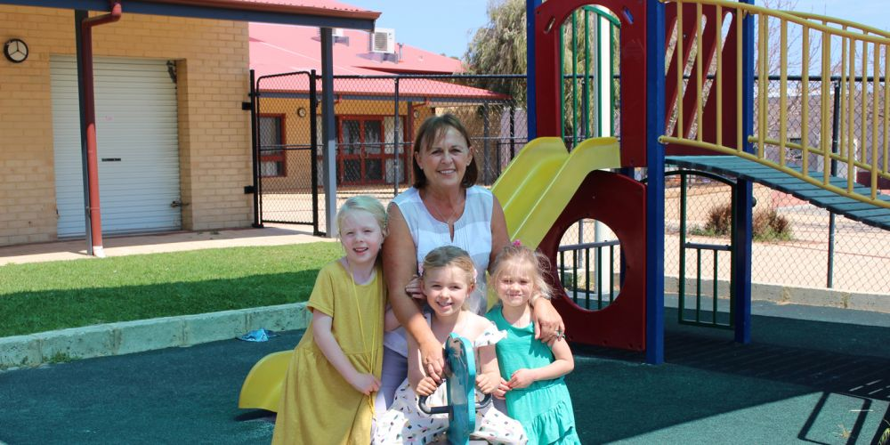 Audrey Brady with her grandchildren. Picture supplied