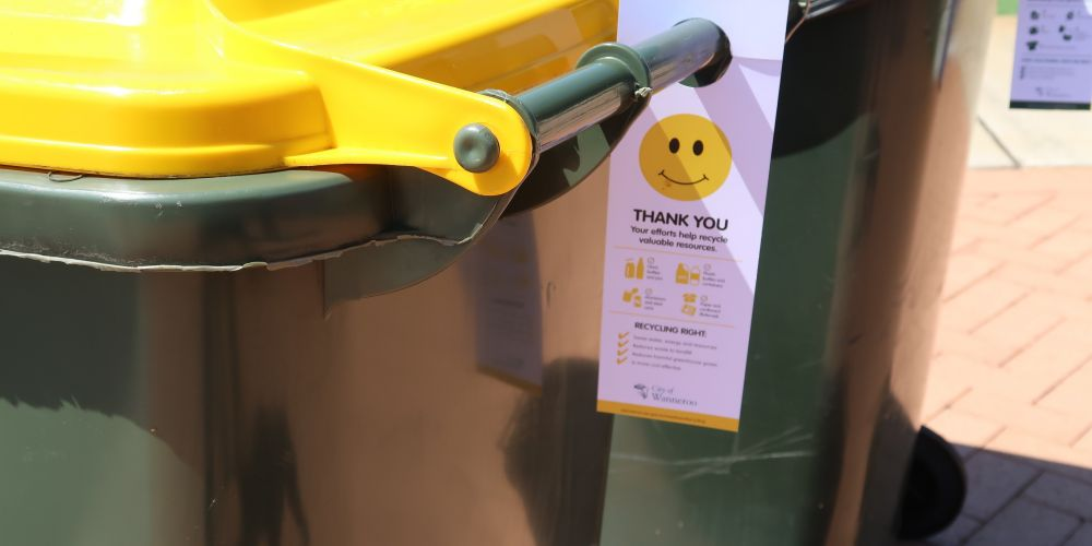 The City of Wanneroo will put tags on bins as part of its recycling challenge.