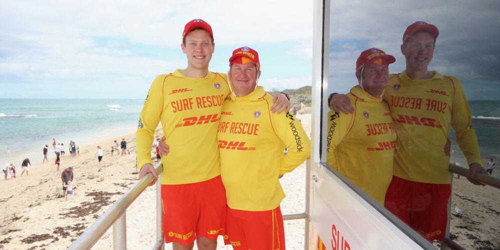 Yanchep Surf Life Saving Club volunteers Liam (18) and Billy Prinsloo.