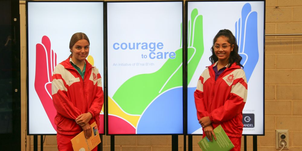 Sacred Heart College Year 10 modern history students Ruby Cohen and Katelyn Bonny took part in the Courage to Care program.