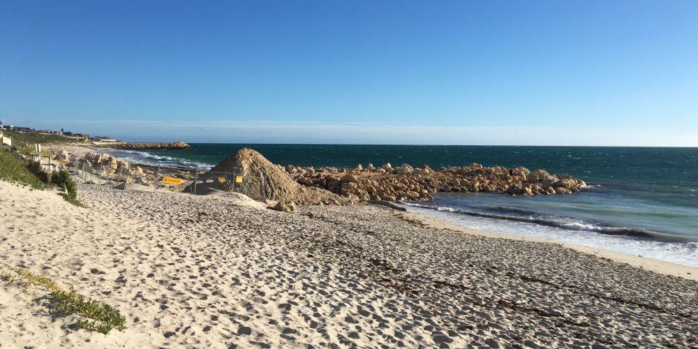 Quinns Beach groyne three.