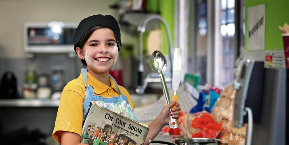 Joondalup Primary School student Imogen Lines (10) prepares for the Big Bethanie Bake Off in her school canteen. Picture: David Baylis d496625