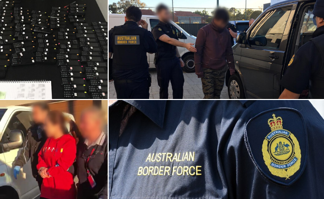 Australian Border Force (ABF) officers have detained two Chinese nationals in Perth as part of an ongoing investigation into the exploitation of foreign citizens in the sex industry. Pictures: Supplied
