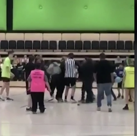 Three people charged over basketball brawl
