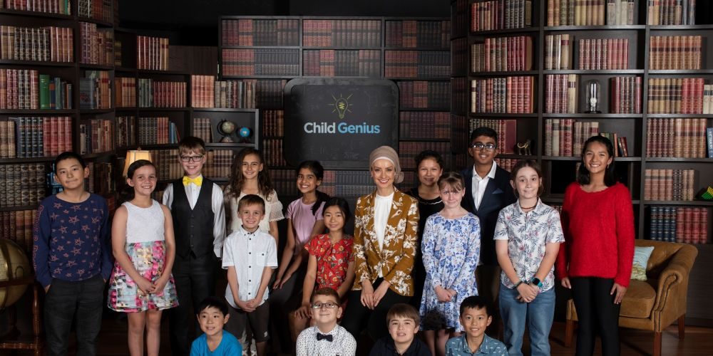 Aidan Kwa (10), front right, is featuring in SBS TV show Child Genius Australia