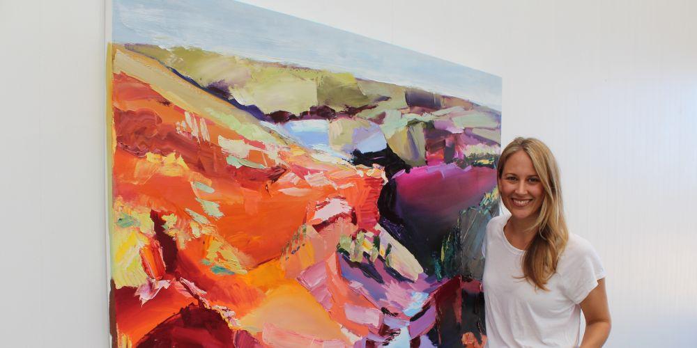 Bicton artist Britt Dunbar.