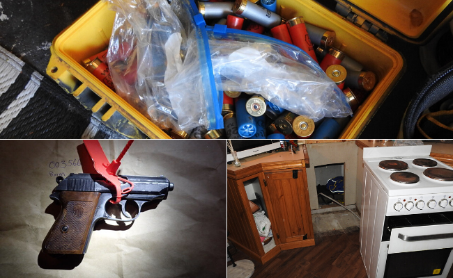 A WA man is facing multiple weapons charges following raids.