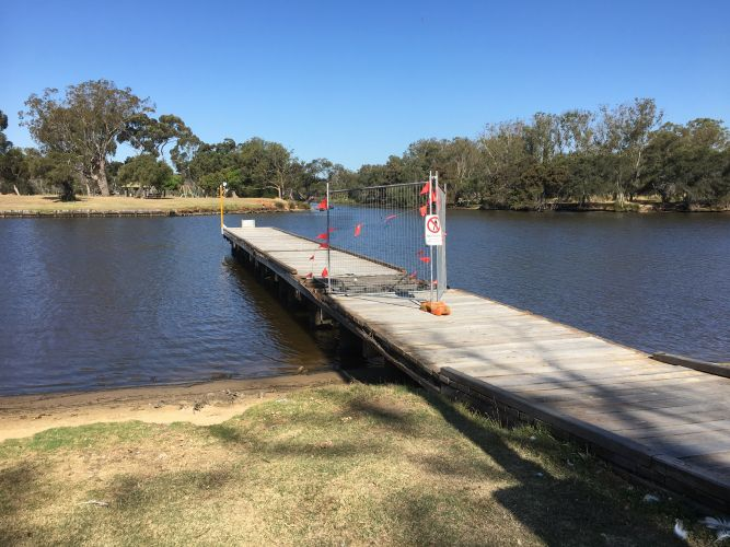 A jetty at Point Reserve in Bassendean.