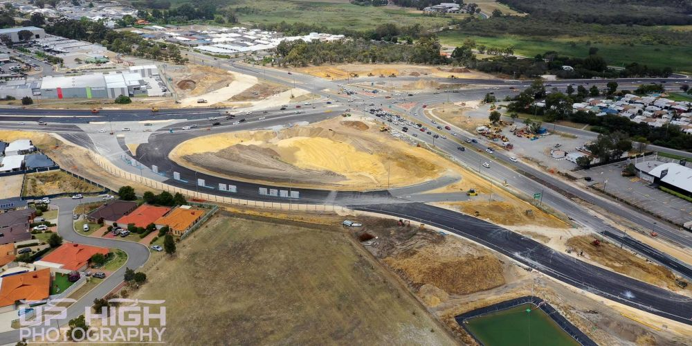Road closures are planned for Wanneroo Road-Ocean Reef Road interchange. Picture: Up High Photography