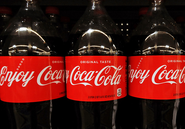 Bottles of Coca-Cola on the shelves. Picture: Paul Hennessy/NurPhoto via Getty Images