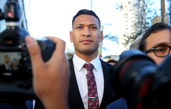 Israel Folau. Picture: Don Arnold/Getty Images