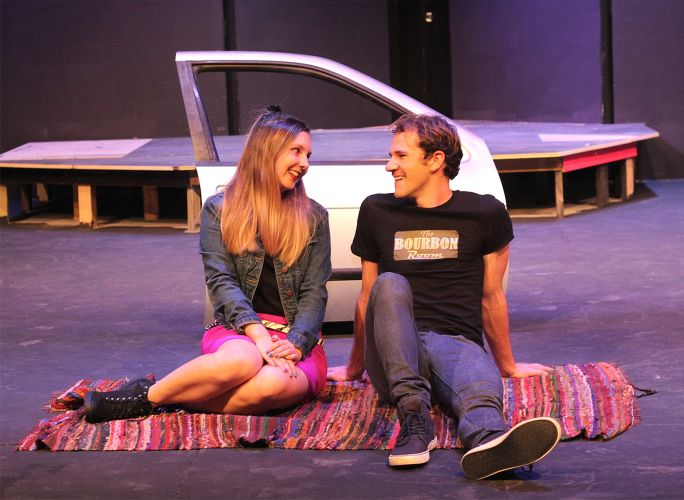 Rock of Ages features Aleisha Archer as Sherrie and Matthew Winter as Drew. Pictures: Ashleigh Taylor
