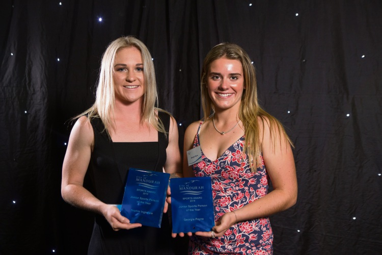 Joint Junior Sports Person of the Year winners Sophie Ingledew and Georgia Payne.