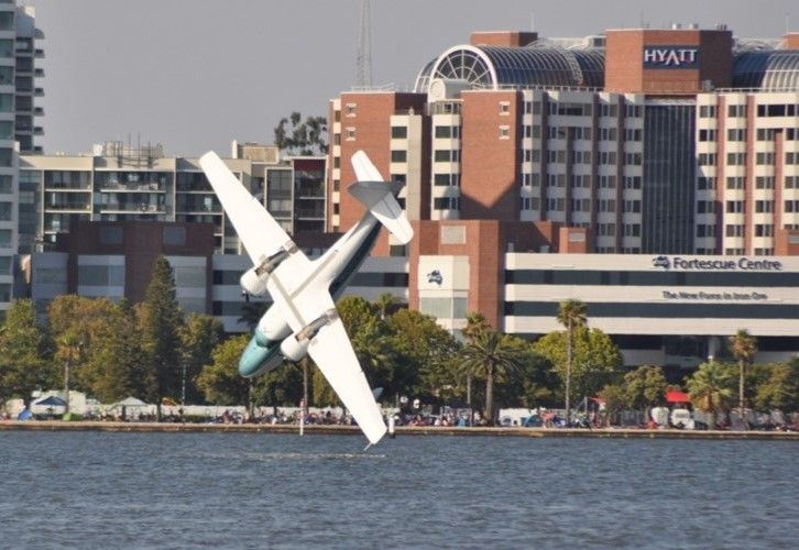 Peter Lynch and Endah Cakrawati died when their twin-engine Grumman Mallard plunged into the river in front of thousands of spectators.