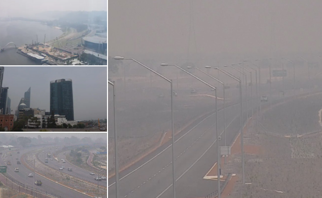The smoke haze has blanketed Perth.