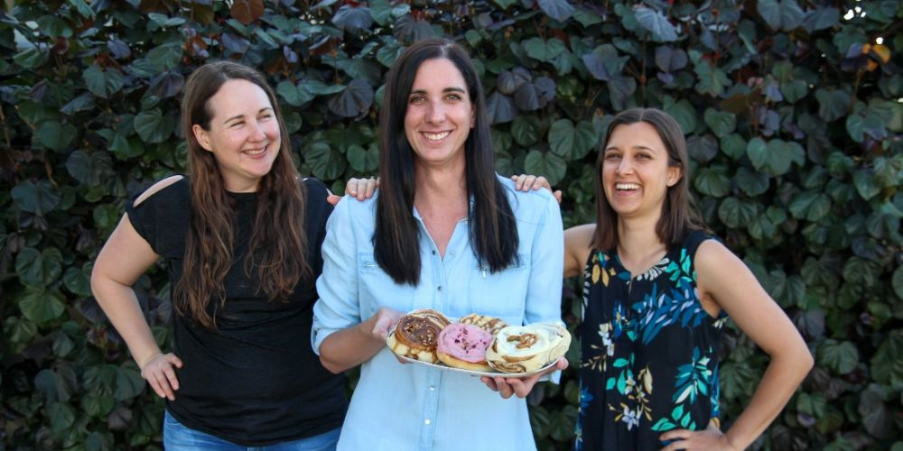 Little Things for Tiny Tots founders Philippa Lonie, Elisa Cunningham and Kiren Bigwood.