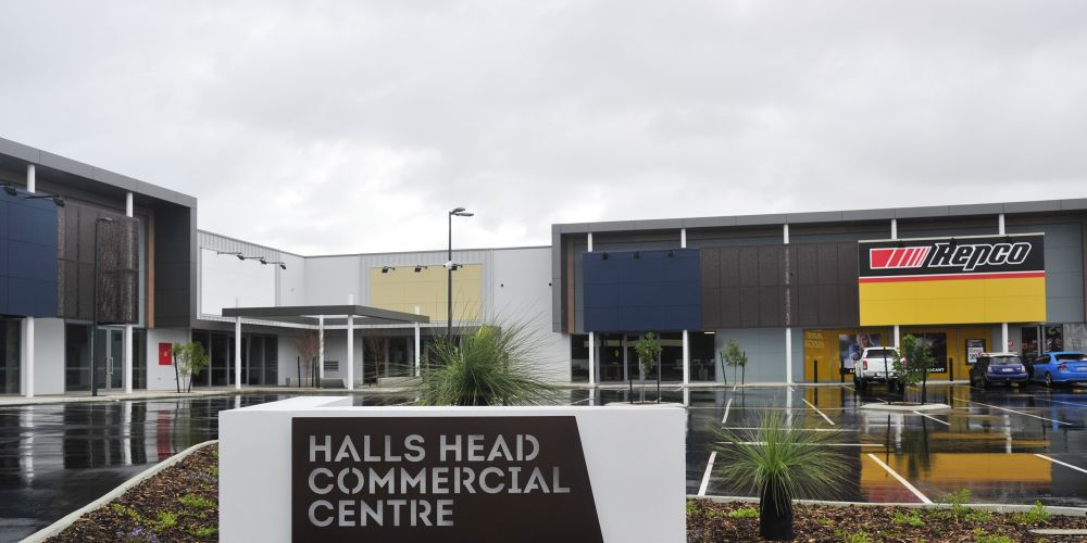The Halls Head Commercial Centre.