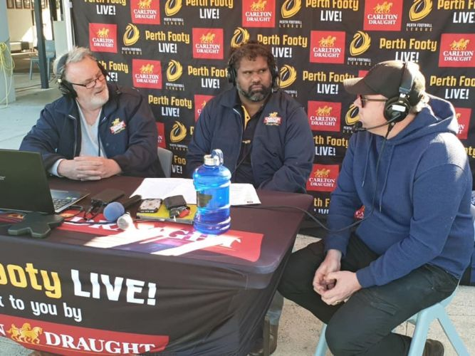 The Perth Footy Live panel.