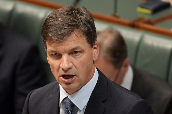 Energy Minister Angus Taylor speaks during question time. Picture: Tracey Nearmy/Getty Images