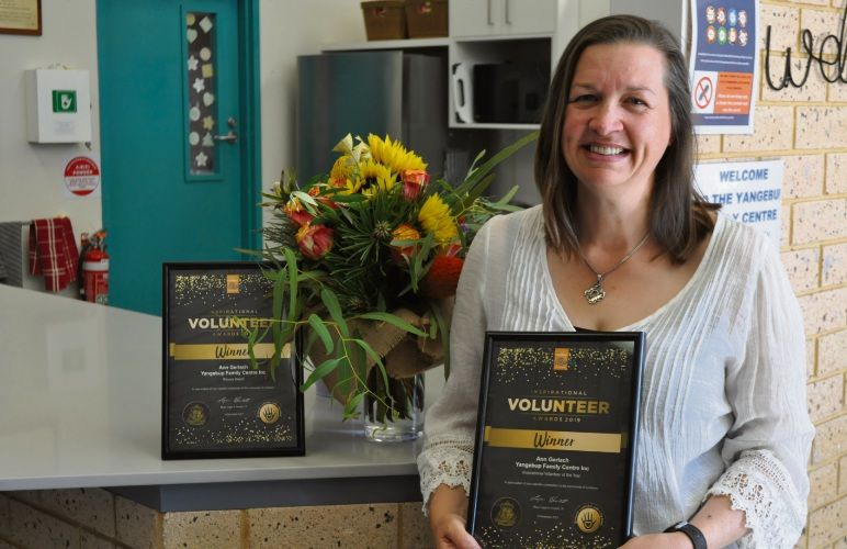 Ann Gerlach was named the City of Cockburn's Inspirational Volunteer of the Year for 2019. Photo: Ben Smith.