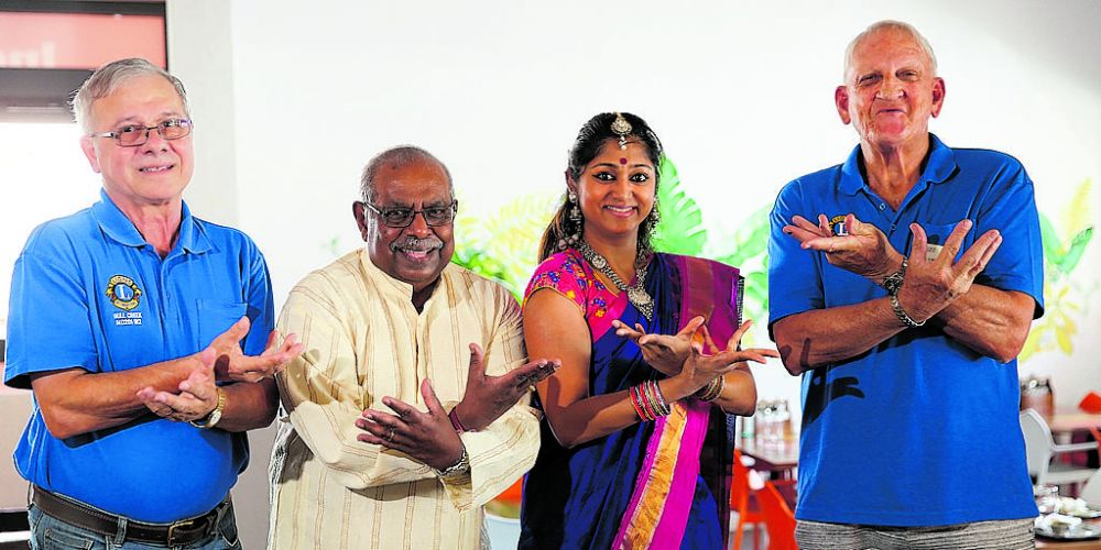 d496802a d496802a Bull Creek Lions Club first vice president Peter Melfi, president Rasa Subramaniam, dance choreographer Amutha Kumar and membership chairman Denis O'Brien. Picture: Andrew Ritchie