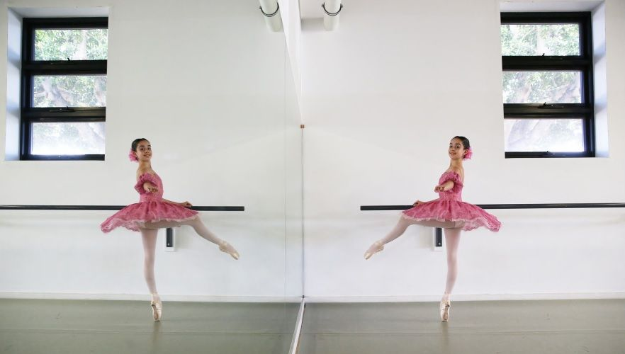 Coogee ballet student Isabella Triscari (13) performed at the World Ballet Grand Prix in Moscow. Photo: Andrew Ritchie.