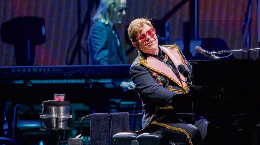 Elton John performs during his Farewell Yellow Brick Road Tour at HBF Park. Picture: AAP Image/Tony McDonough