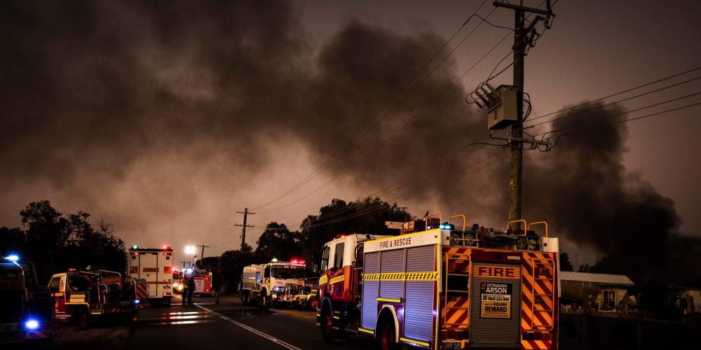 Fire crews attend shed fire in Jandabup on December 1. Picture: Josh Tucker