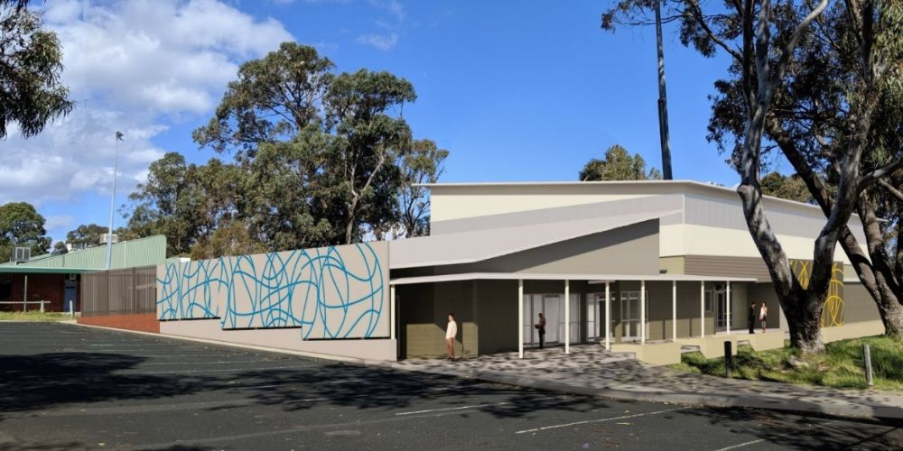 An artist's impression of the Wanneroo Secondary College sports hall.