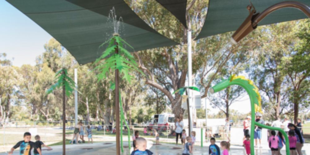 The Kingsway water playground opened on November 30. Picture: City of Wanneroo