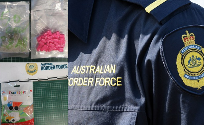 Drug and cryptocurrency seized by the Australian Border Force.