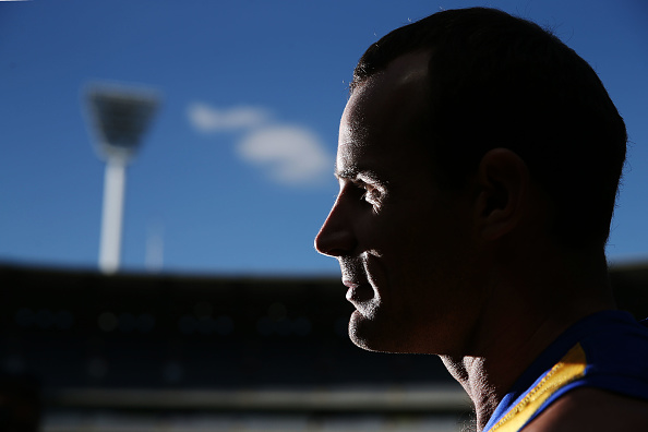 Shannon Hurn of the Eagles. Picture: Michael Dodge/Getty Images