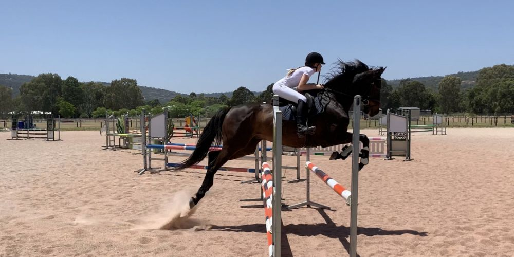 Olivia Crossen (13)  jumping pool horse at the Modern Pentathlon State Championshjps. Picture supplied