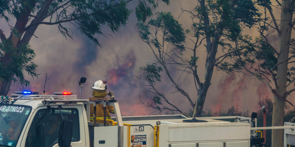 Firefighters on the scene of a bushfire outside  Perth. Picture: File image/Department of Fire an Emergency Services