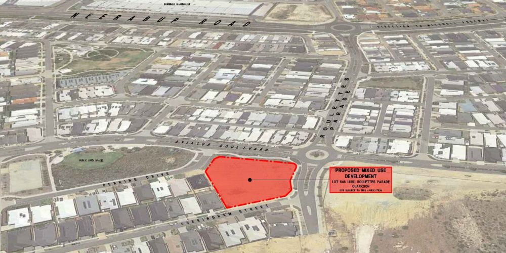 The proposed childcare and mixed use development site in Catalina estate in Clarkson.