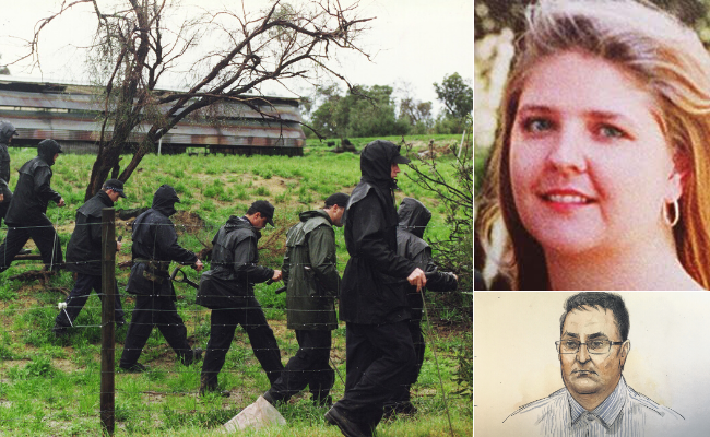 A woman has become upset testifying at the Claremont murders trial about the discovery of Jane Rimmer's naked body in bushland.