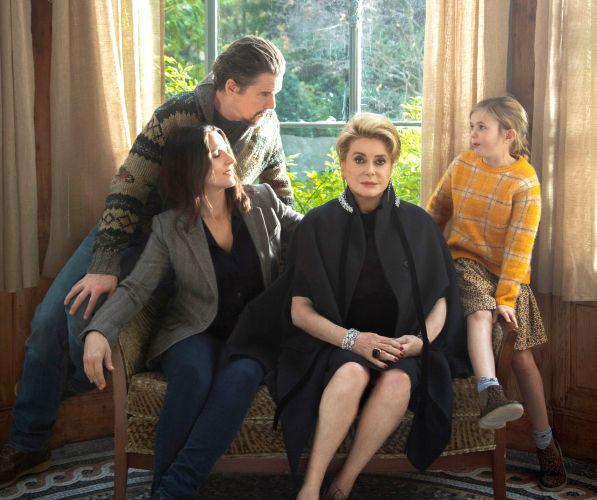 Ethan Hawke, Juliette Binoche, Catherine Deneuve and Clémentine Grenier in The Truth.