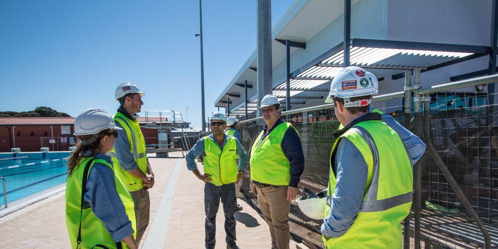 Shelford Construction team at Garden Island.