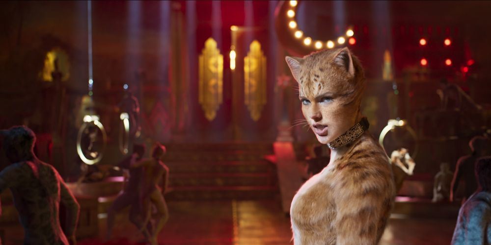 Taylor Swift as Bombalurina in Cats.