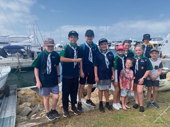 Mullaloo Sea Scouts at a 'discover sailing day' at Hillarys Yacht Club.