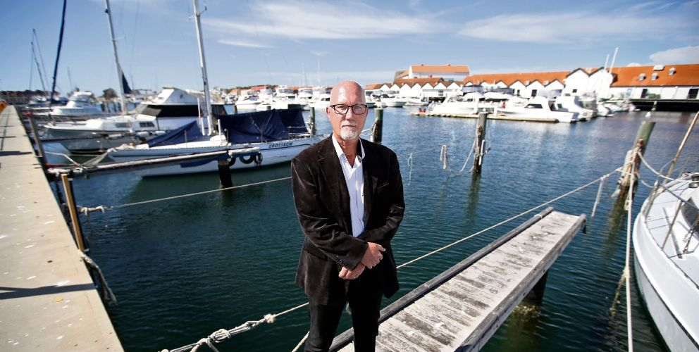 Hillarys Boat Harbour Pen Holders Association president Evan MacRae has raised concerns about increasing fees and vacancy numbers. Picture: David Baylis d497201