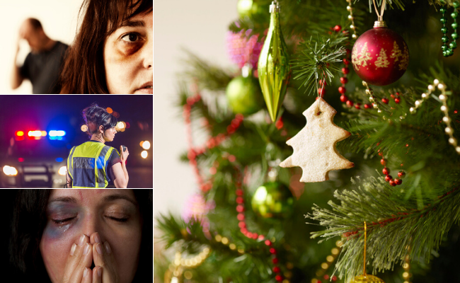 The Christmas and New Year period is typically characterised by a spike in family violence incidents.