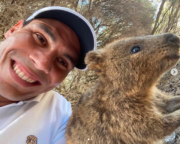 World number one ranked men's tennis player Rafael Nadal kicked off 2020 with a quokka selfie at Rottnest Island.