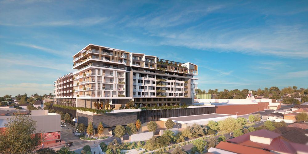 The proposed apartment complex at Kardinya Park Shopping Centre.
