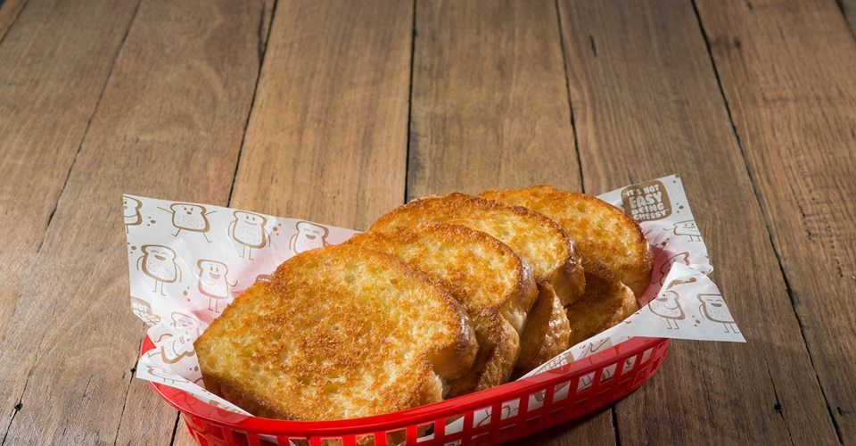 Cheese toast at Sizzler.
