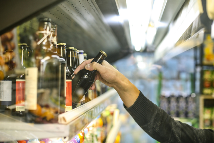 A man banned from entering licensed premises is accused of stealing alcohol on three separate occasions in less than three hours.