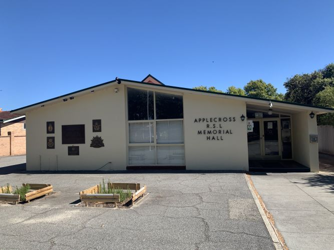 The Applecross RSL building on Kintail Road.