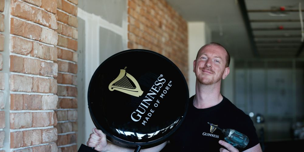 International Guinness ambassador Domhnall Marnell at The Galway Hooker. Photo: Andrew Ritchie
