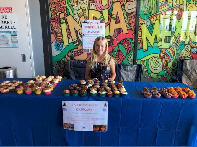 11 year-old Isabella Kronberger raised $800 by herself for bushfire appeals.